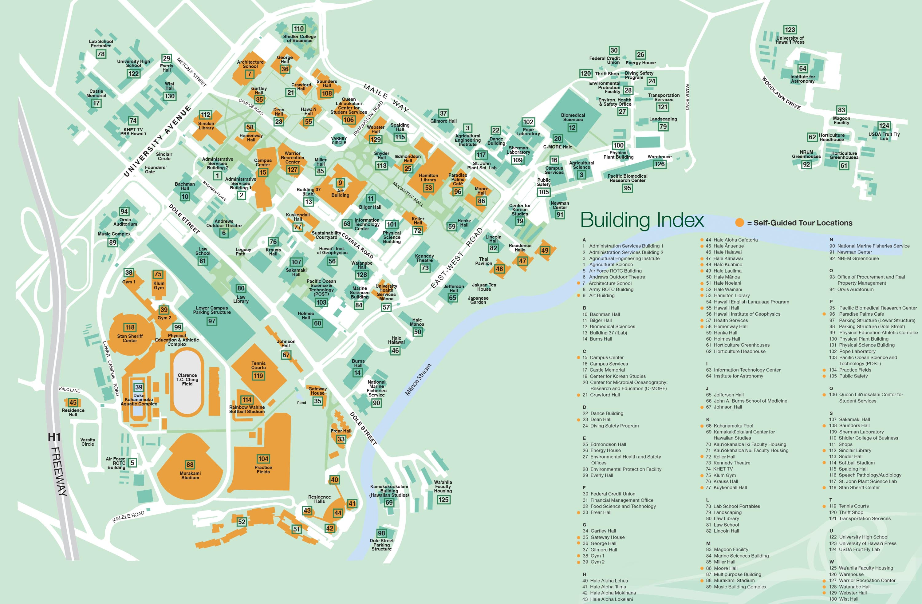 CAMPUS MAP | University Of Hawaii Visitor's Guide on